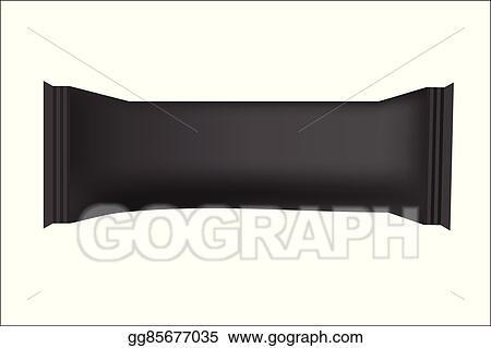 EPS Illustration - black blank food packaging for biscuit, wafer ...