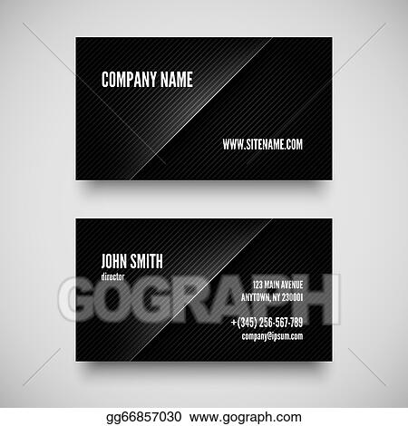 Vector Illustration Black Business Card Template Eps Clipart