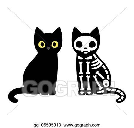 Eps Illustration Black Cat Sitting Illustration Vector Clipart Gg106595313 Gograph