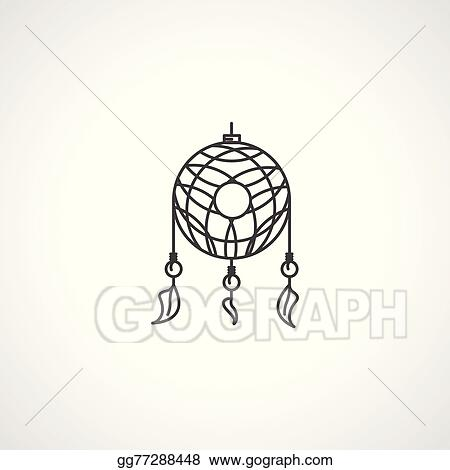 Black Dream Catcher Vector Icon