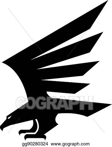 Vector Clipart Black Eagle Geometric Heraldic Vector