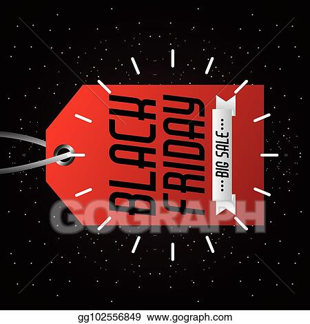 Vector Art Black Friday Big Sale Tag Marketing Inscription Prom Clipart Drawing Gg102556849 Gograph