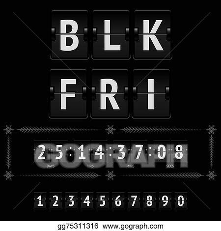 Eps Vector Black Friday Countdown Timer Stock Clipart Illustration Gg75311316 Gograph