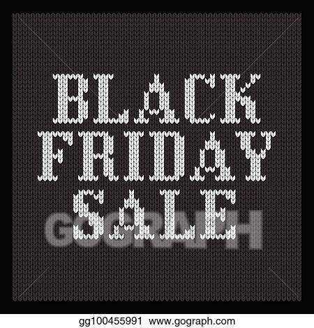 2f3581deed67 Clip Art Vector - Black friday knitted sale tag. Stock EPS ...