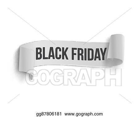 vector stock black friday sale curved ribbon banner template