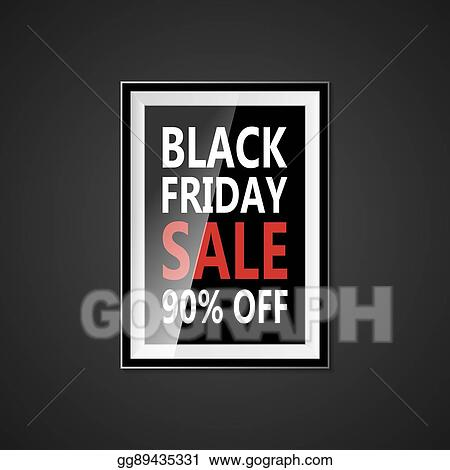 34fd5d9d1e4 Black Friday sale inscription design template. Black Friday banner with bow  ribbon. Discount 90 special off design banner. Shopping promotion poster.  Vector ...