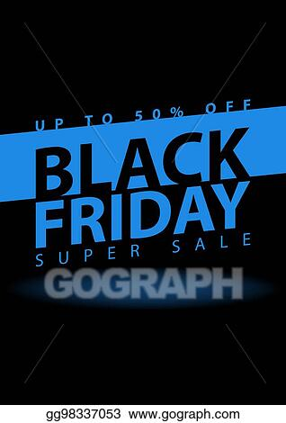 Black Friday Super Poster Clearance Mega Flyer Template Special Offer Season Vector Digital Banner Ilration