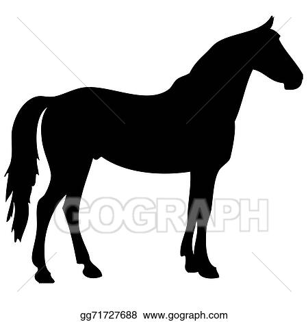drawing black horse silhouette 2 clipart drawing gg71727688 gograph rh gograph com horse silhouette clip art images horse silhouette clip art free