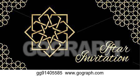 Vector art black iftar invitation clipart drawing gg91405585 black iftar invitation stopboris Image collections