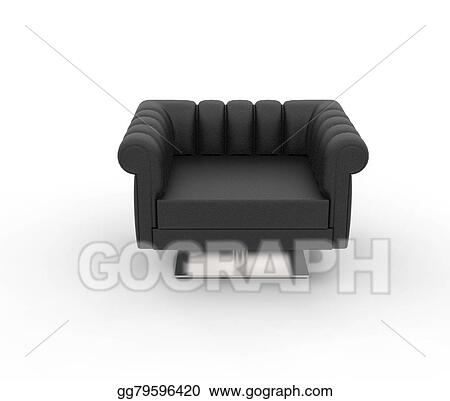 Clipart - Black leather armchair - top view. Stock ...