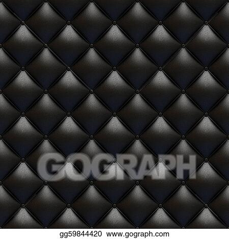 Pictures Black Leather Upholstery Texture Seamless Stock Photo