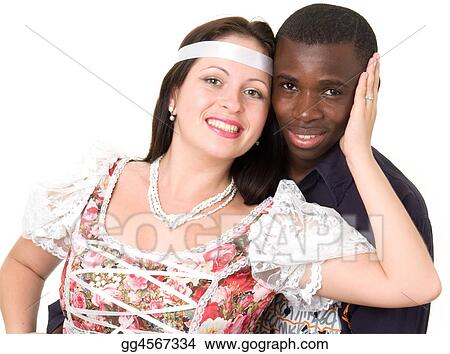 Stock Images - Black man and white woman. Stock Photography gg4567334 -  GoGraph