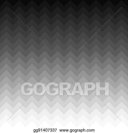 Vector Art Black N White 3d Geometrical Cube Waves