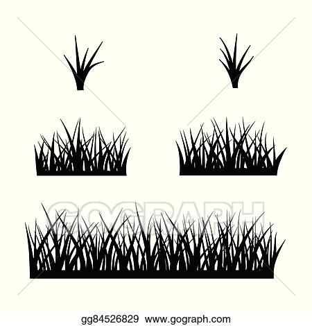 vector clipart black silhouette of grass vector illustration gg84526829 gograph https www gograph com clipart license summary gg84526829