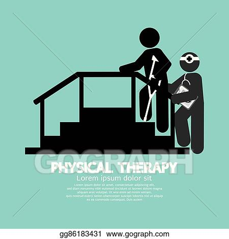 Vector Art Black Symbol Physical Therapy Eps Clipart Gg86183431