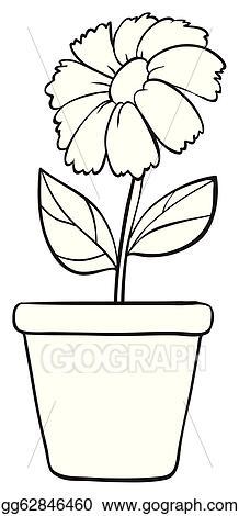Vector Art Black White Flower Clipart Drawing Gg62846460 Gograph