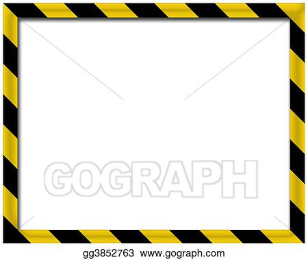 Stock Illustration - Blank 3d frame. Clipart Drawing gg3852763 - GoGraph