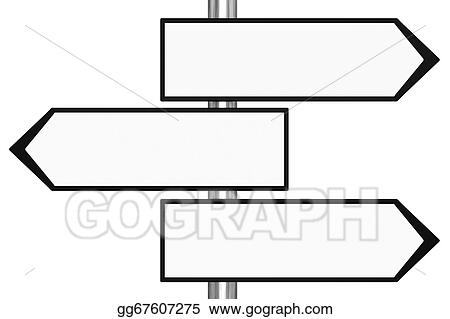 drawing blank black and white road signs clipart drawing
