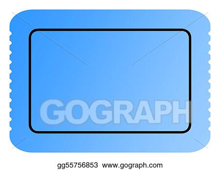 stock illustrations blank blue ticket stock clipart gg55756853