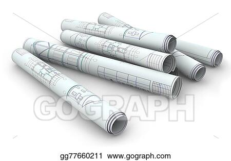 Drawing blank blueprint roll of paper on a clipart drawing blank blueprint roll of paper on a malvernweather Gallery