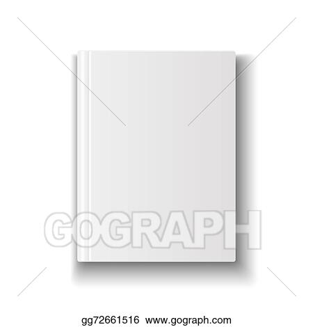clipart blank book cover template on white background with soft