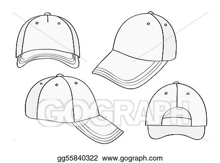 dd80107a8c6 Vector Art - Blank cap (different points of view) with space for your design.  Clipart Drawing gg55840322