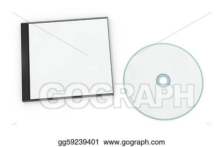 stock illustration blank cd or dvd jewel case clipart drawing rh gograph com cd cover design clipart CD-Cover Clip Art Without Background