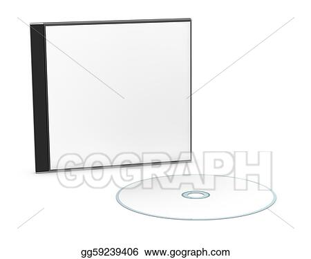 Stock Illustration - Blank cd or dvd jewel case. Clipart Drawing ...