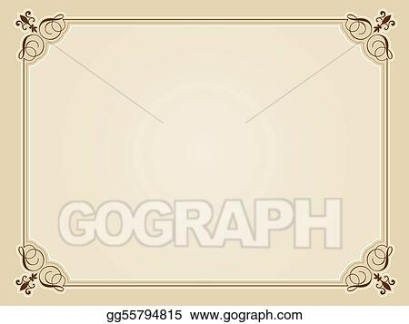 Vector Illustration - Blank certificate background. EPS Clipart ...