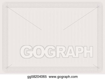EPS Vector - Blank certificate template. Stock Clipart Illustration ...