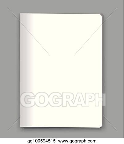 vector stock blank closed magazine book booklet brochure mockup