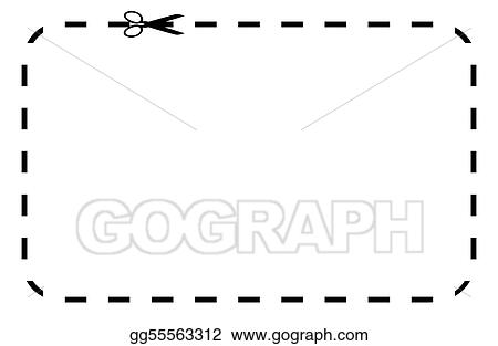Drawing - Blank Coupon Or Voucher. Clipart Drawing Gg55563312