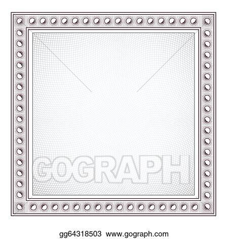 Vector Stock - Blank diploma frame template. Stock Clip Art ...