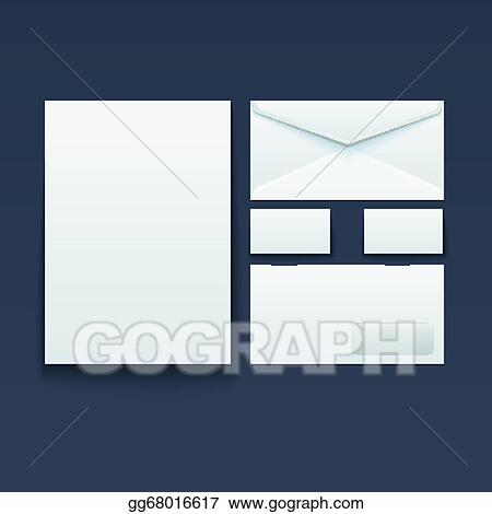Vector illustration blank envelope business card and paper stock blank envelope business card and paper colourmoves