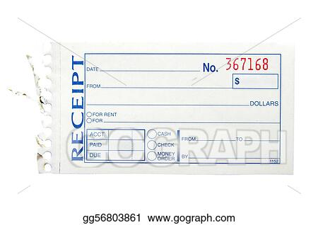 stock images blank generic paper receipt on white stock