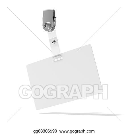 drawing blank id badge clipart drawing gg63306590 gograph