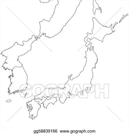 Clipart - Blank japan map. Stock Illustration gg58839166 ...