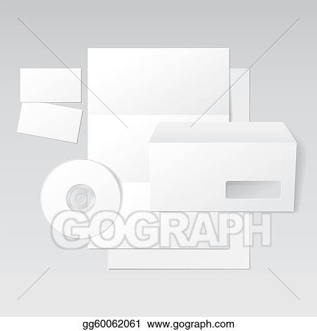 Vector Art Blank Letter Envelope Business Cards And Cd Clipart