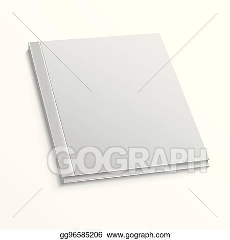 eps illustration blank magazine cover template on white background
