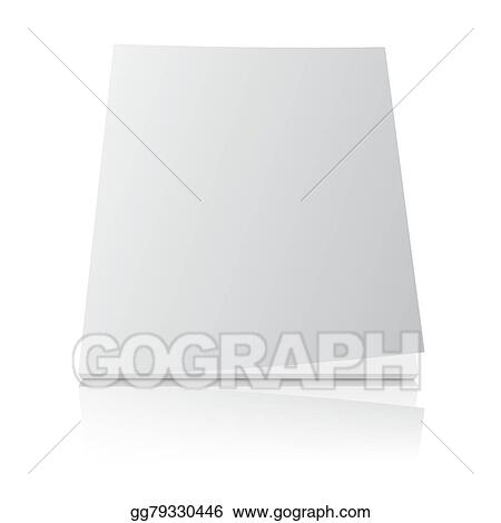 Clip Art Vector Blank Magazine Template Cover On White Stock Eps