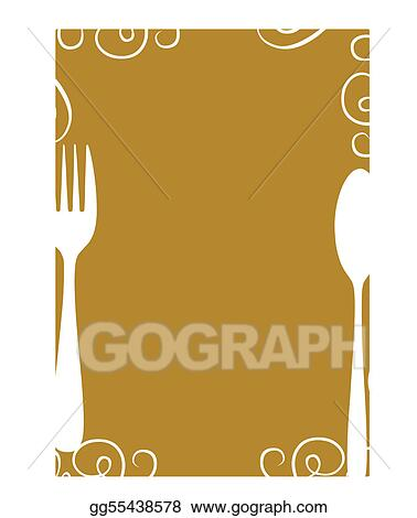Clip Art Vector - Blank Menu Page Template. Stock Eps Gg55438578