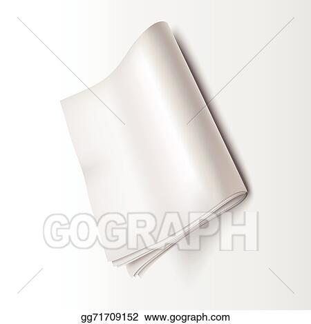 Eps Illustration Blank Newspaper Template Vector Clipart