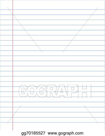 vector stock blank notebook paper sheet with lines clipart