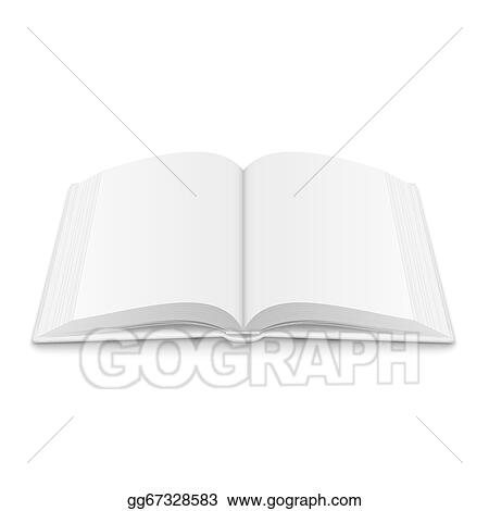vector illustration blank opened book template with soft shadows