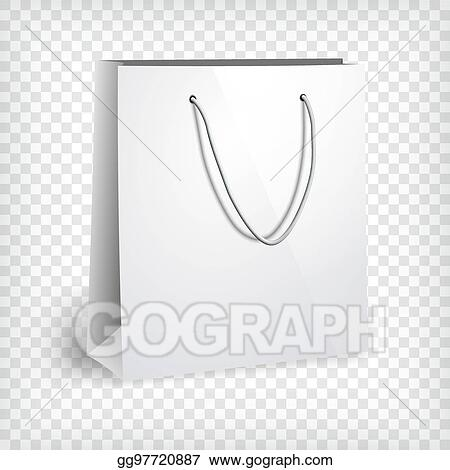 Vector Clipart - Blank paper bag template. Vector Illustration ...