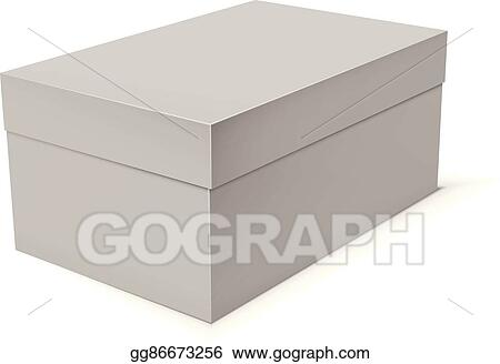 vector stock blank paper or cardboard box template clipart