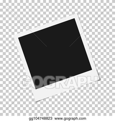 Vector Illustration Blank Photo Frame With Adhesive Tape