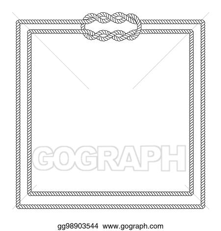 eps vector blank poster template with nautical border stock