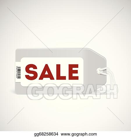 Vector Art Blank Price Tag Isolated On White EPS Clipart