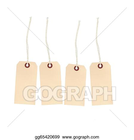 Drawing Blank Price Tags Clipart Drawing Gg65420699 GoGraph